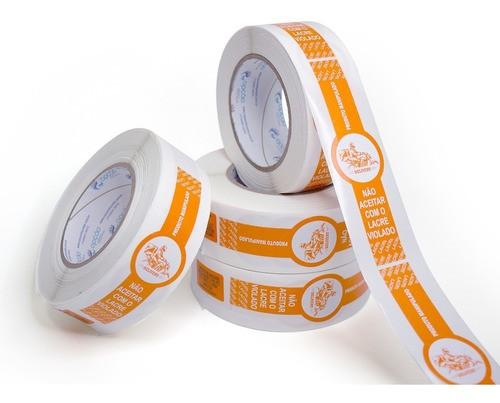 10 Rolos Etiquetas Lacre Segurança Delivery Ifood Alimentos