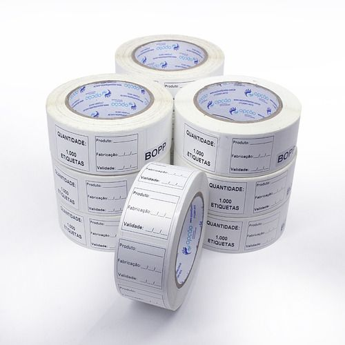 Etiqueta 40x40 Anvisa Bopp Alimentos Congelados Kit 10 Rolos