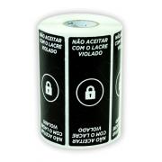 Etiqueta Lacre Segurança Embalagem Geral Preto - 500 Und
