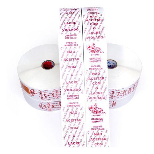 Etiqueta Lacre Segurança 35x100 Delivery Pizzaria 1.000 Unid