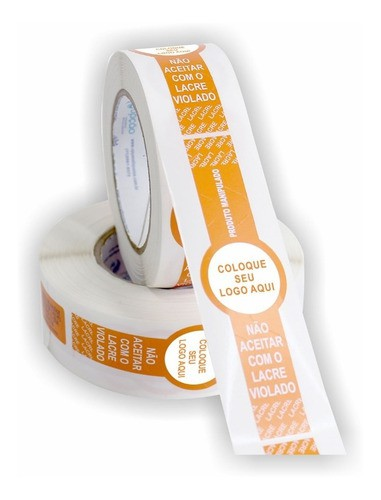 5.000 Etiquetas Lacre Segurança Para Delivery Personalizado
