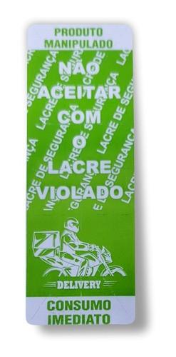 Etiqueta Lacre De Segurança Adesivo Delivery Ifood Rappi Verde