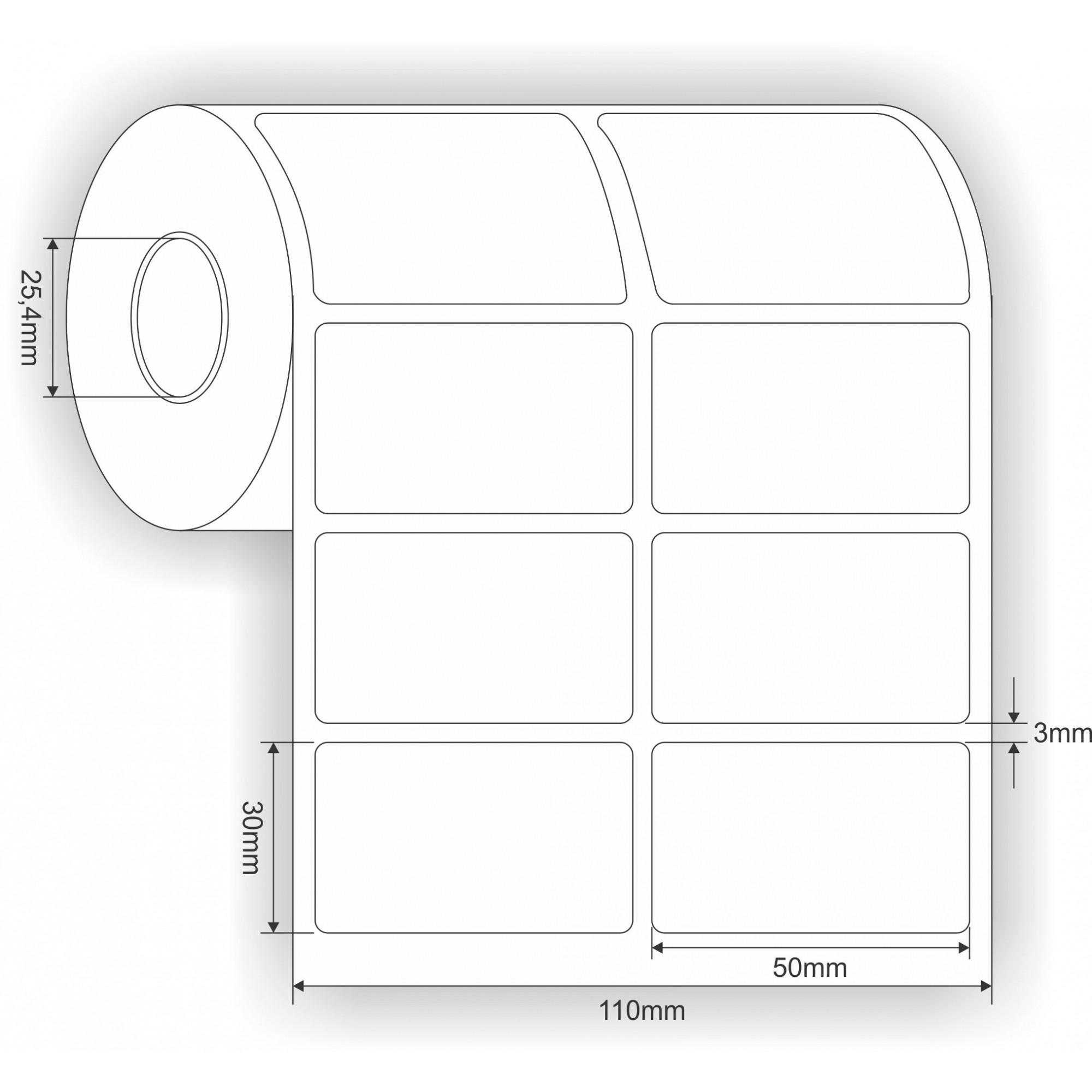 Kit 20 Rolos Etiquetas Adesivas Couche 50x30