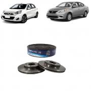 Disco De Freio Dianteiro Nissan March 1.0 1.6 2012/... Versa 1.6 2012/... Par