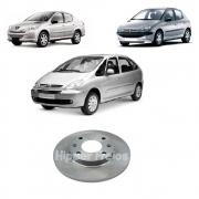 Disco De Freio Dianteiro Peugeot 206 1.4 1.6 2004/2008 Peugeot 207 1.4 8v 2005/2014 Xsara 1.4 1998/2000Disco Solido 4 Furos