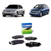 Pastilha De Freio Dianteira Honda Civic 1.6 1.7 16v 2000/... Honda Civic 1.8 2007/2012 Honda Civic 1.6 1.7 1991/2000