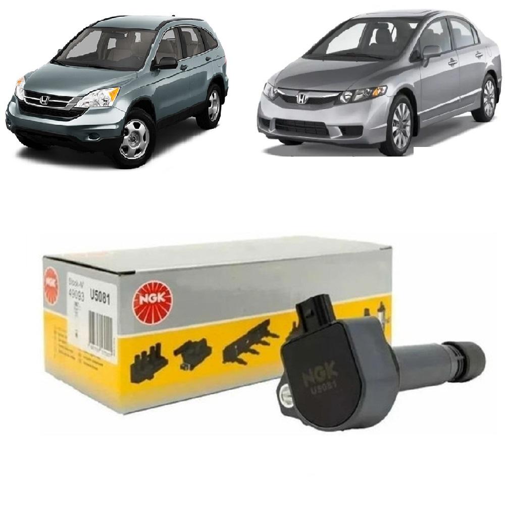 Bobina De Ignição Honda Civic 1.8 16v 2006/2011 CR-V 2.0 16v 2007/2011 Accord 2.0 16v 2008/2009