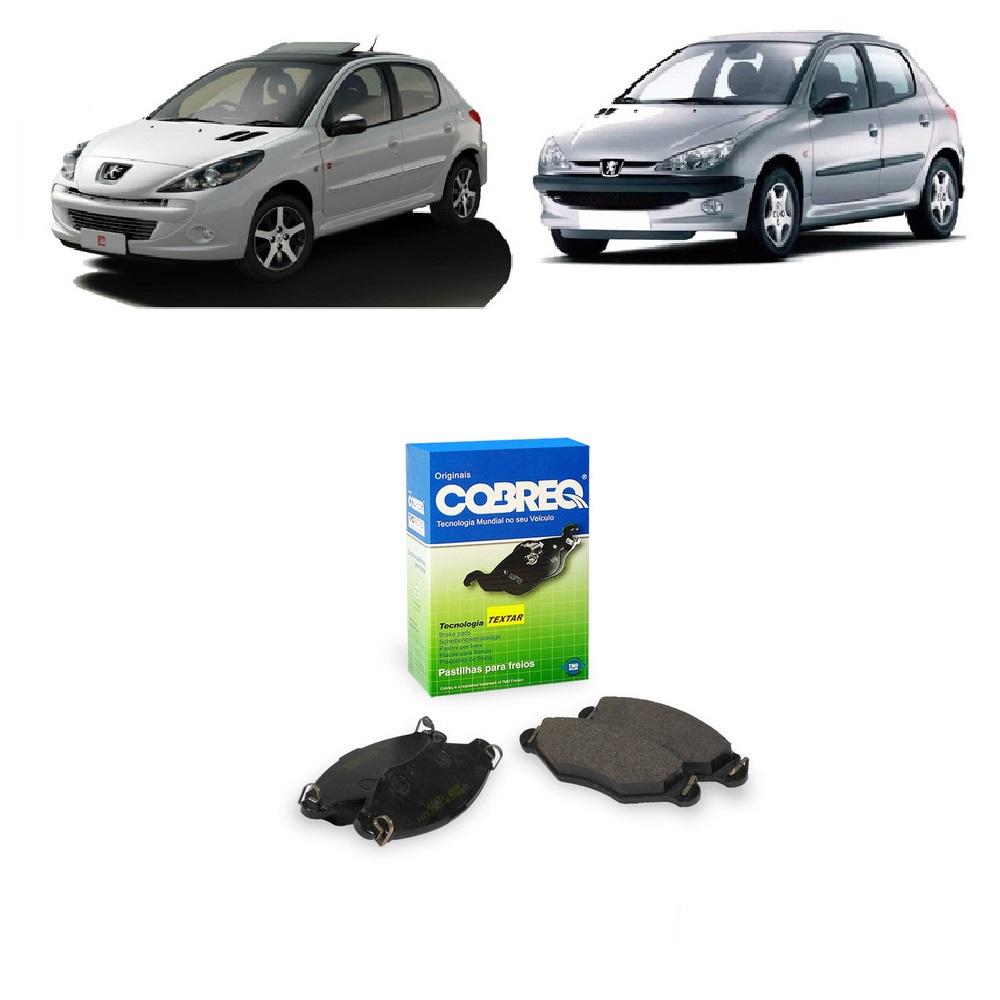Pastilha de Freio Dianteira Peugeot 206 e 207 1.0 1.4 1.6 8/16v 2000/...