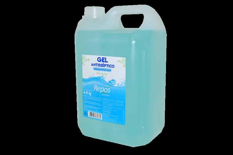 Álcool em Gel Repós Antisseptico para Mãos 4,45 kg