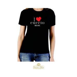 Blusa I Love Cuccio - Baby Look - M - Preta - ILBL-M