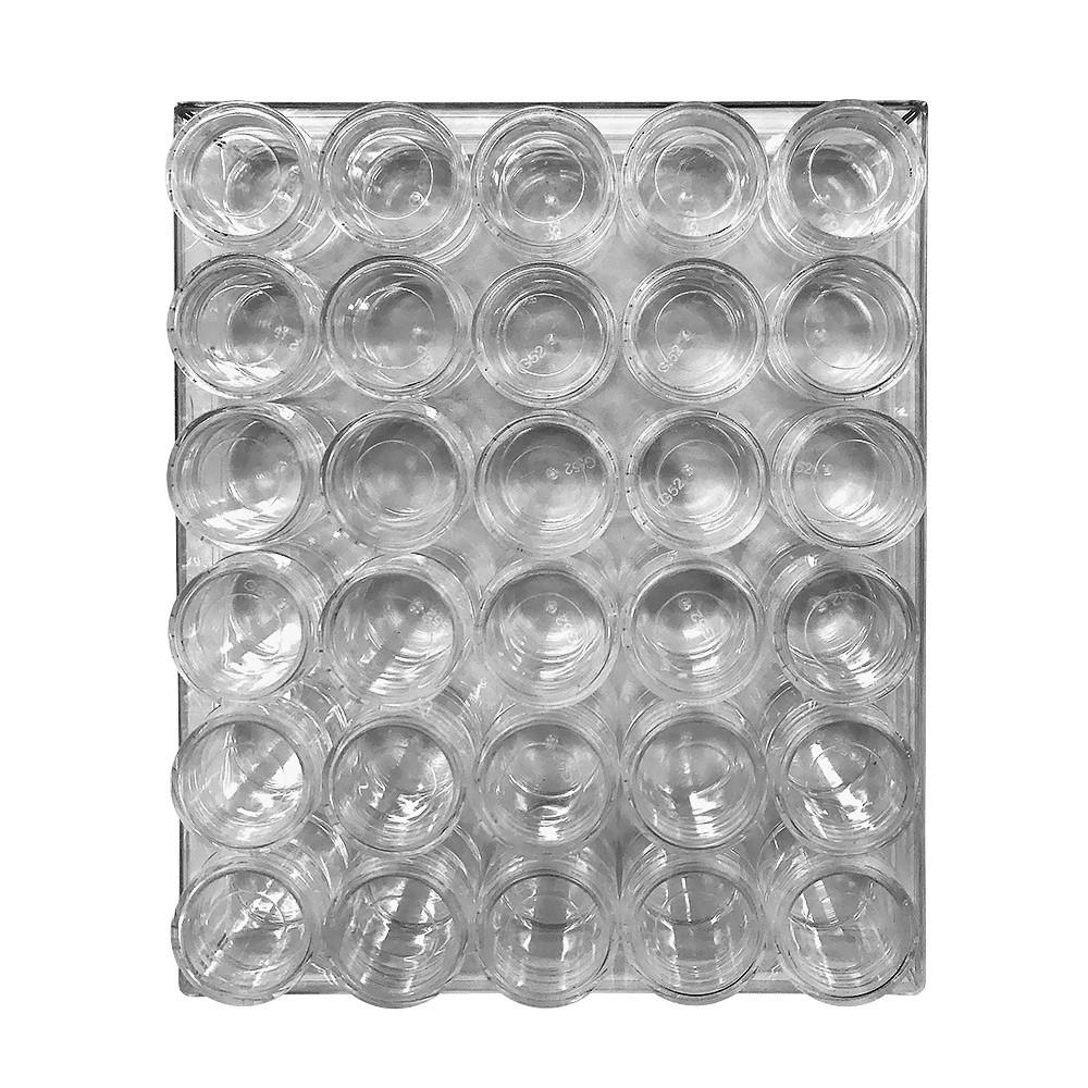 Caixa Acrílica C/ 30 Porta Glitter - DN178 G