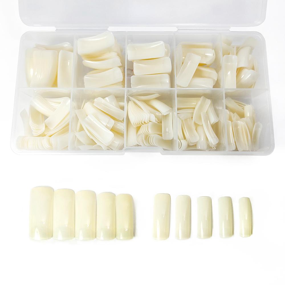 Caixa de Tips Alongamento Square - Cor natural - 500 unidades - BC-NT-08