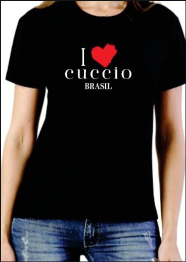 Camiseta I Love Cuccio  - Baby Look - ILBL