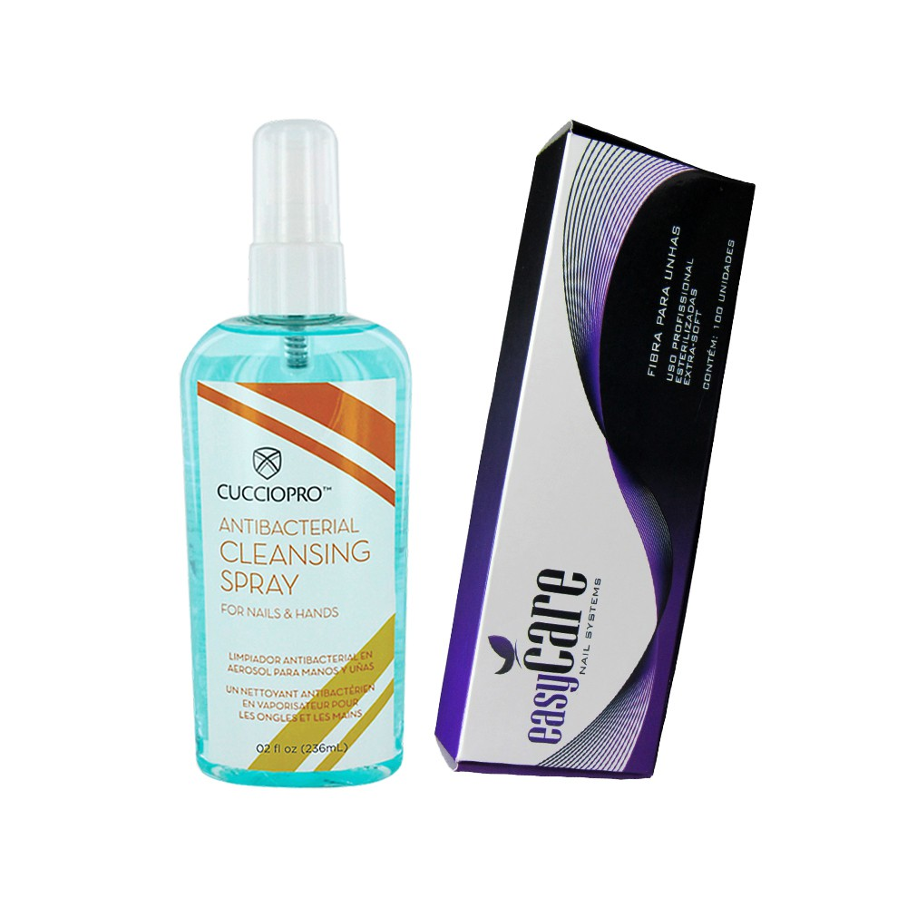 Cleansing Cuccio 236ml + Fibra fio a fio Easy Care (100 unid)