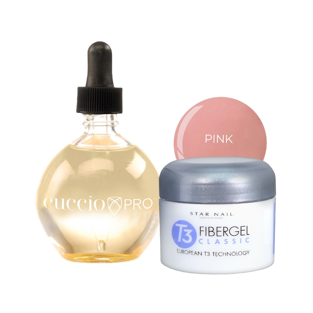 Fibergel Pink 28g + Oléo Baunilha 75ml