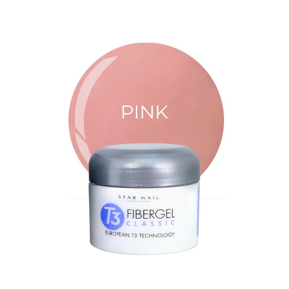 Gel Star Nail T3 Fibergel - Pink - 28g - 961