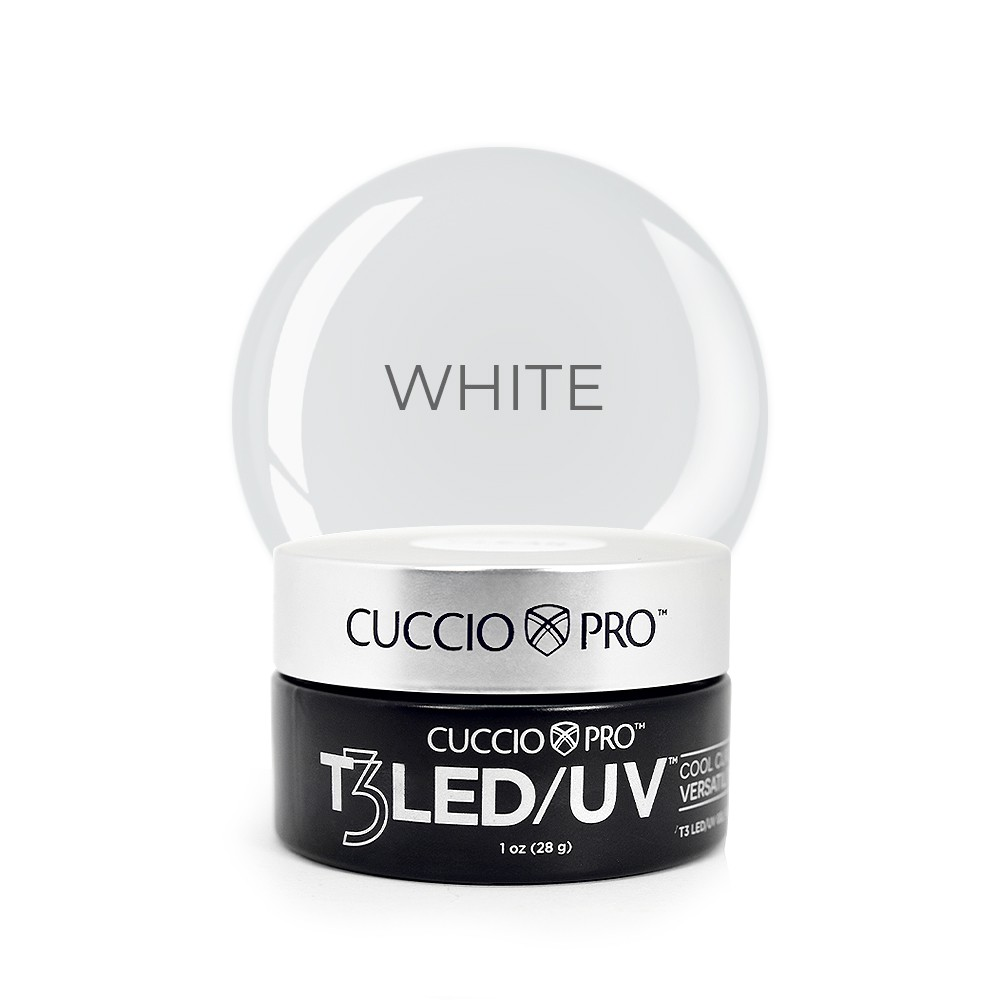 Gel T3 LED/UV Cuccio Pro - Controle Total - White - 28g - 6951