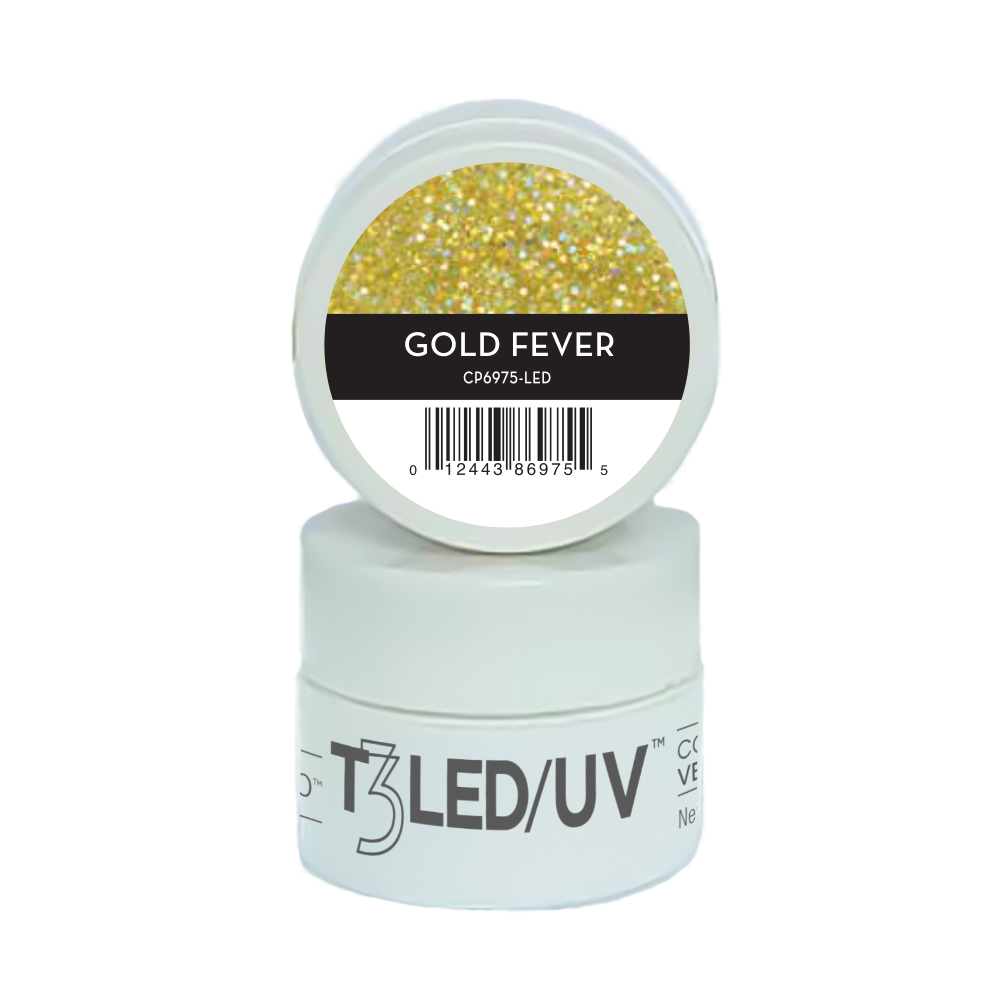 GEL - T3 SPARKLE LED/UV 7G - Gold Fever - 6975