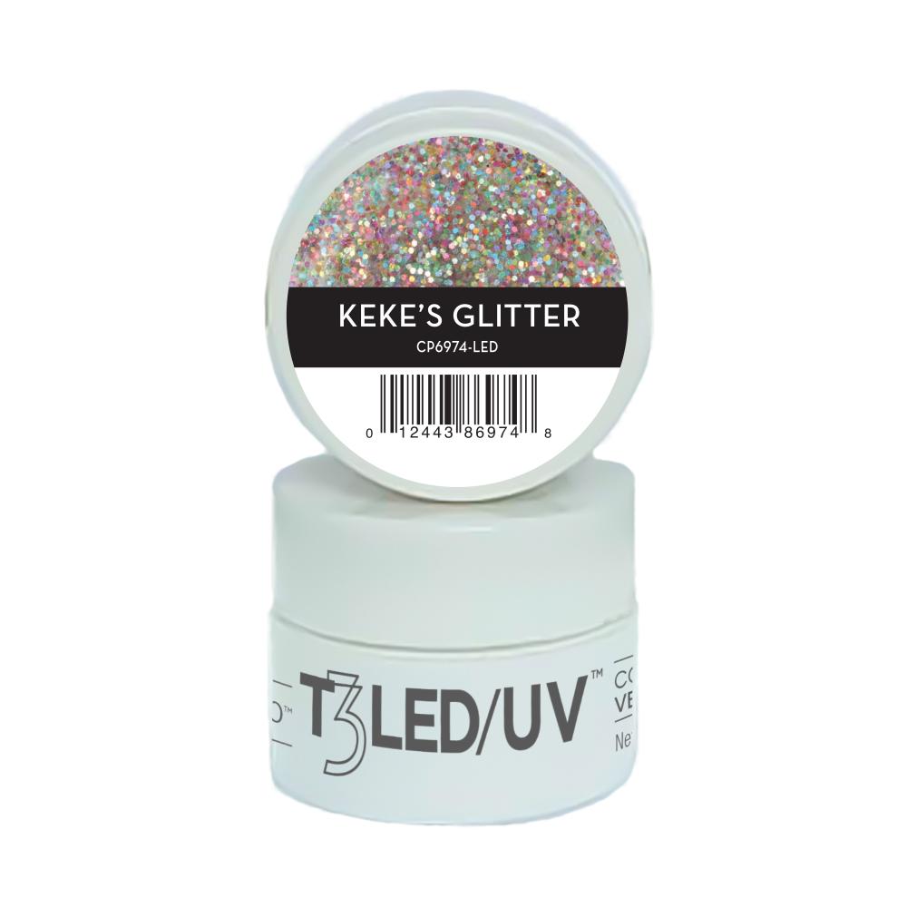 GEL - T3 SPARKLE LED/UV 7G - KEKES GLITTER - 6974