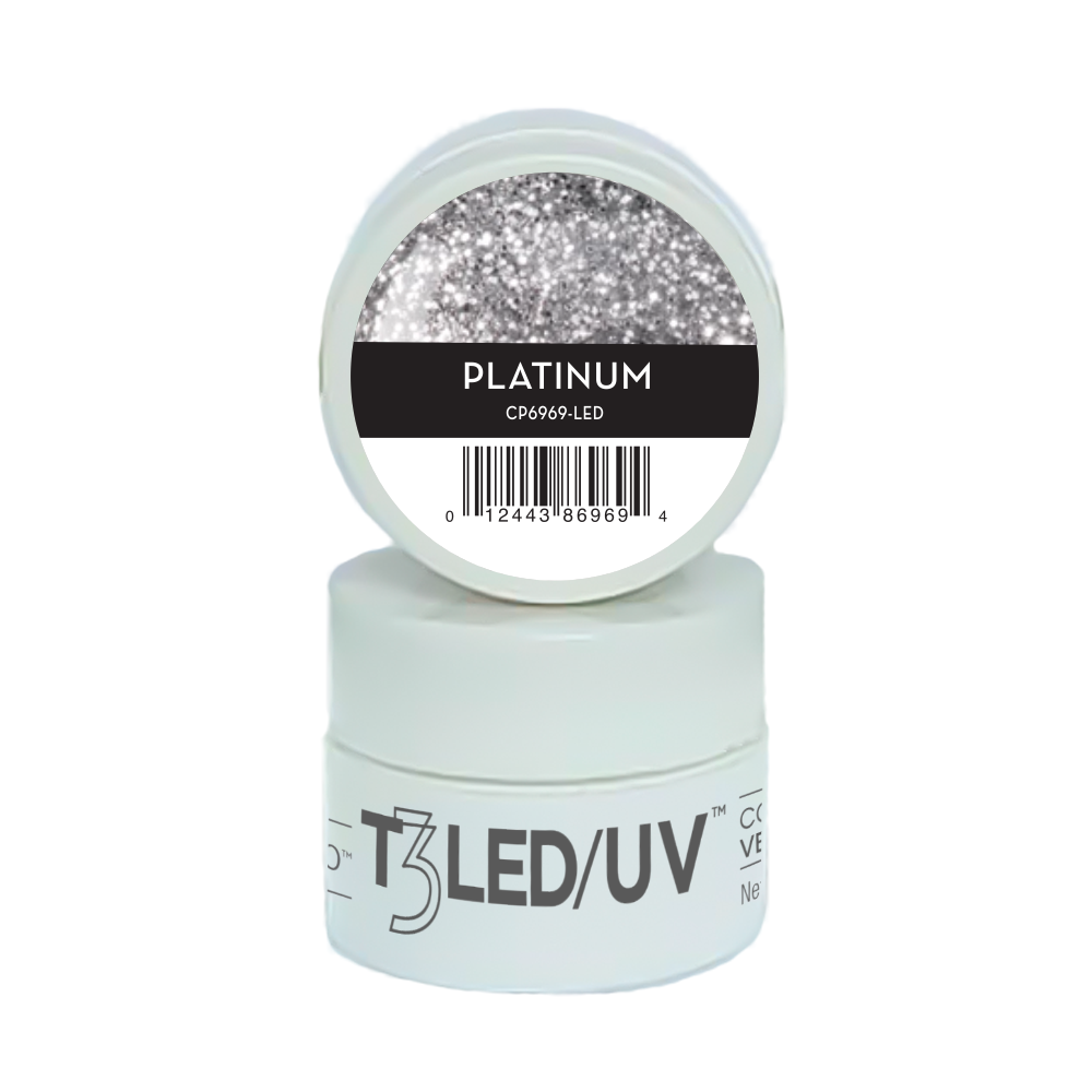 GEL - T3 SPARKLE LED/UV 7G - PLATINUM - 6969