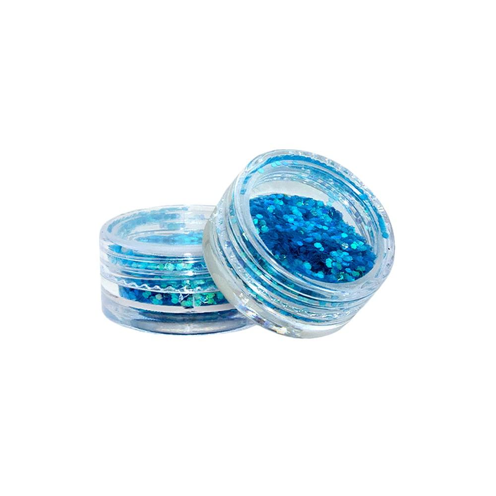 GLITTER AZUL N.3 P/DEC.UNHA - 2445
