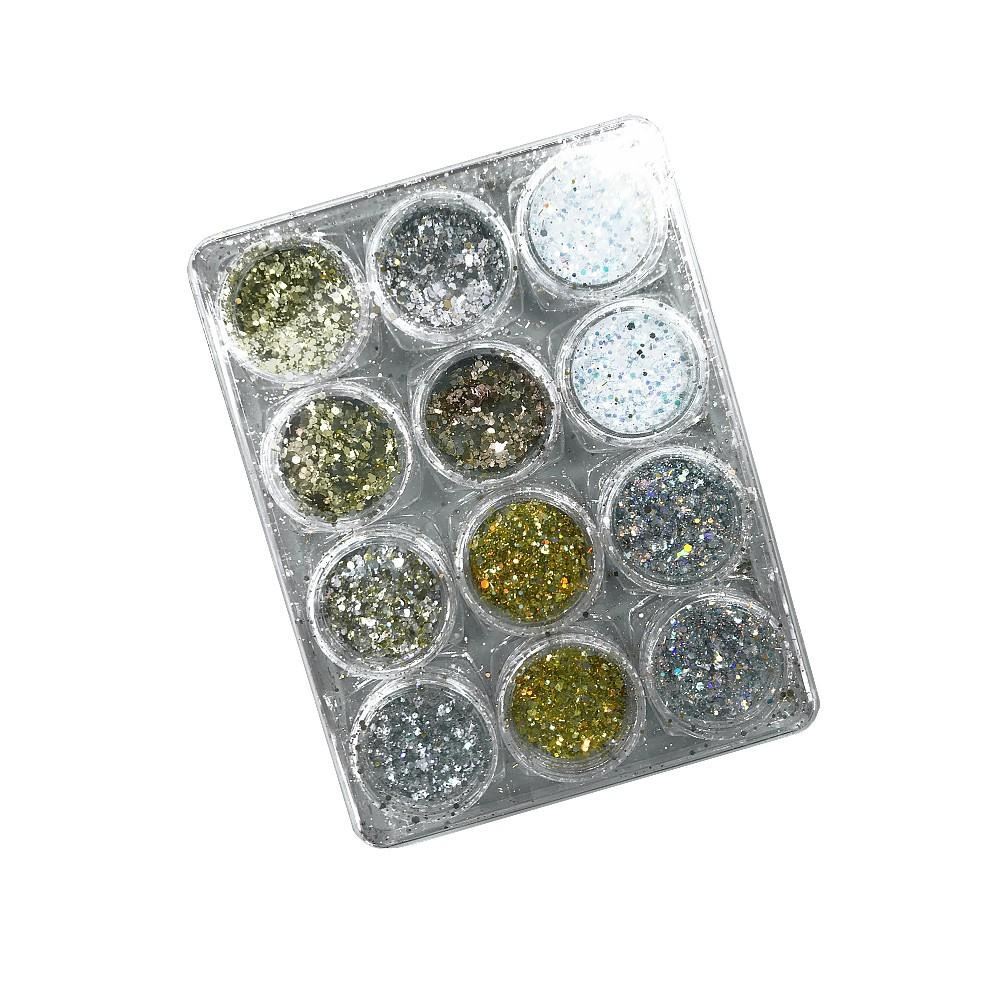Kit Glitter Flocado - GLAMOUR - C/12 Frascos - DN232-4