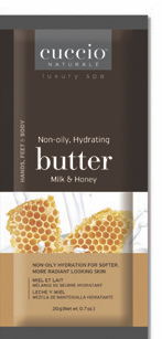 Hidratante Cuccio - Sachet Butter - Milk and Honey - 20g - Sachê - CNST6002