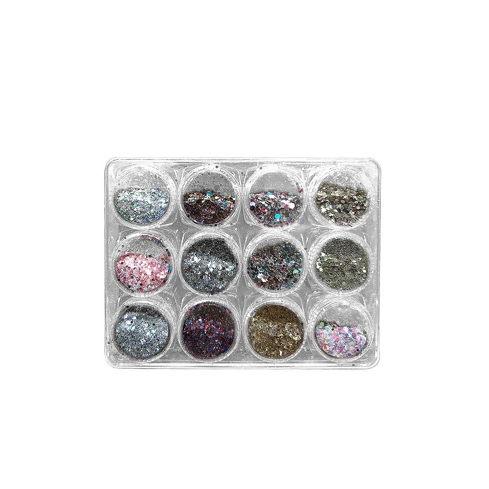 Kit Glitter Especial - LUXO - C/12 Frascos - DN180-2