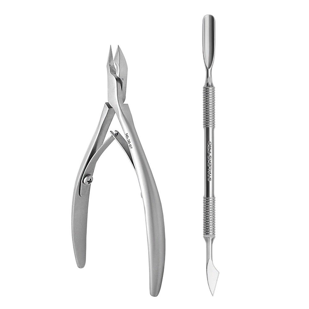 Kit Nail Designer Staleks Pro ( Alicate NS-20-7 +  Espátula PE-30-3)