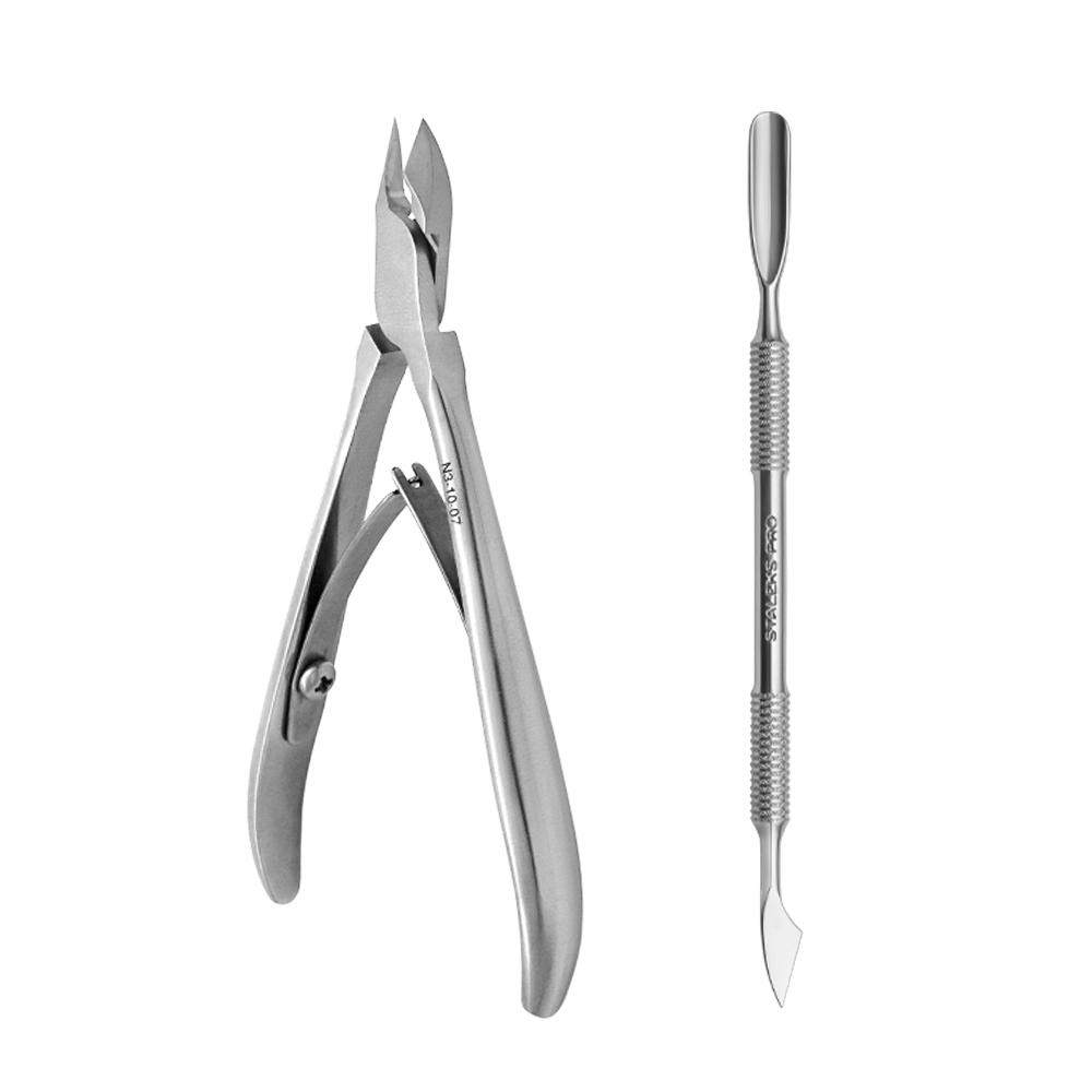 Kit Nail Designer Staleks Pro by Grazi Brum - Alicate NS-10-7 e Espátula PS-50-2