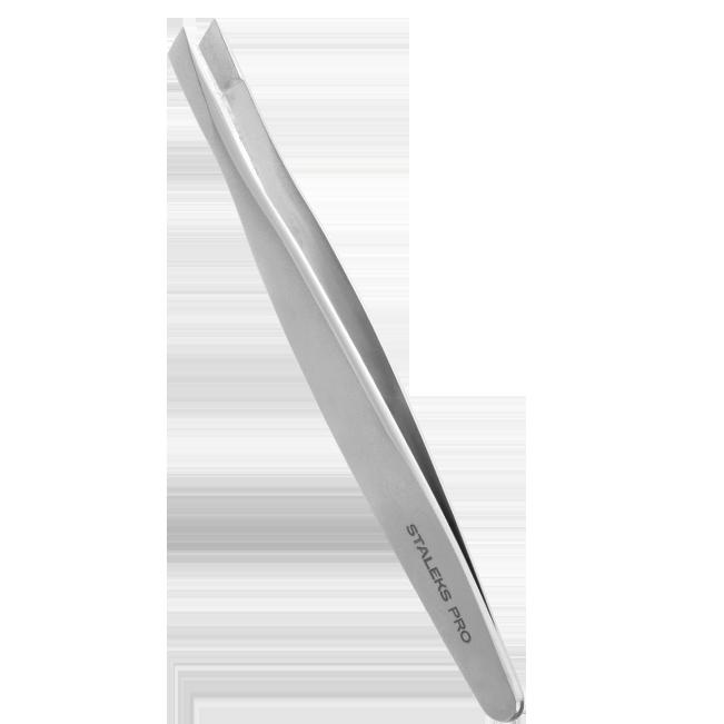 Pinça de Sobrancelha Staleks Pro - Série Expert 20  - Chanfrada Larga - TE-20-3