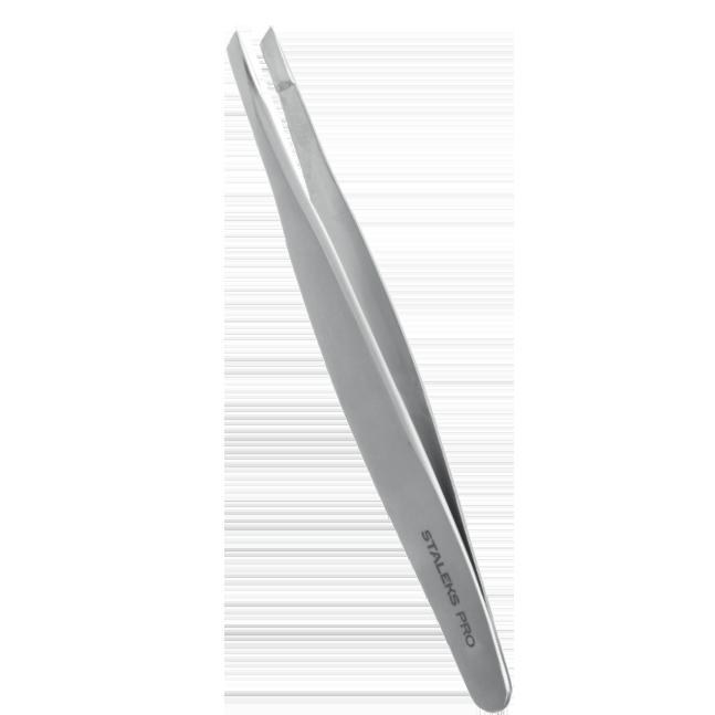 Pinça de Sobrancelha Staleks Pro - Série Expert 20 - Chanfrada - TE-20-4