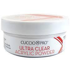 Pó acrílico Cuccio Pro Ultra Clear - Branco - 45g - 15025