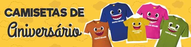 Camisetas para aniversário