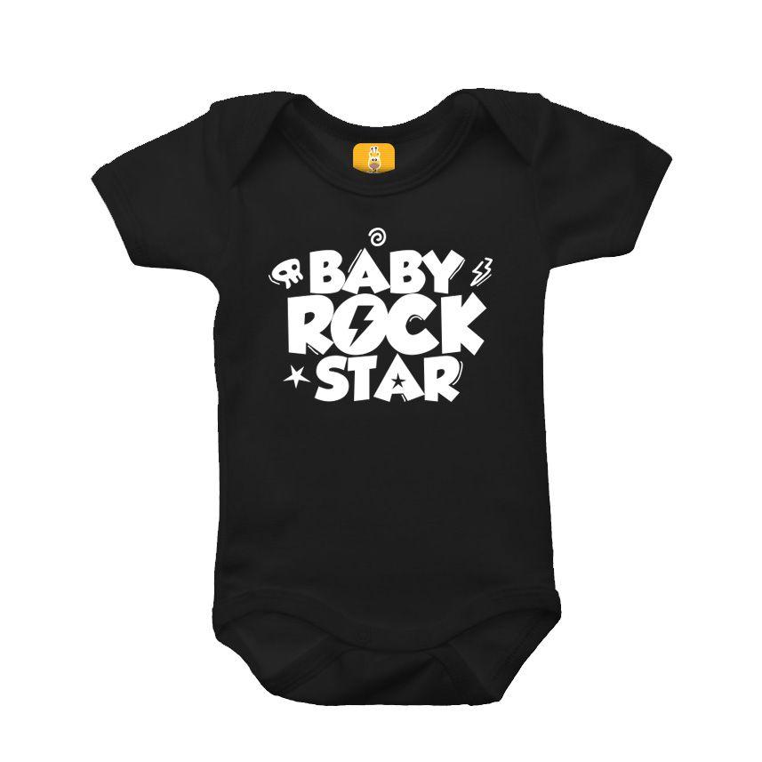 Body bebê - Baby rock star