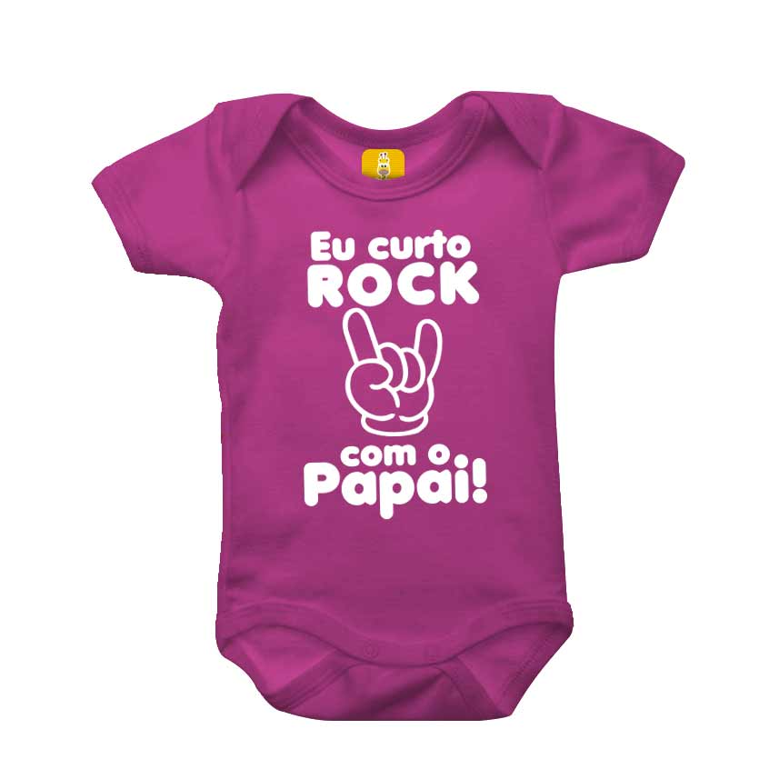 Body bebê - Eu curto rock com o papai
