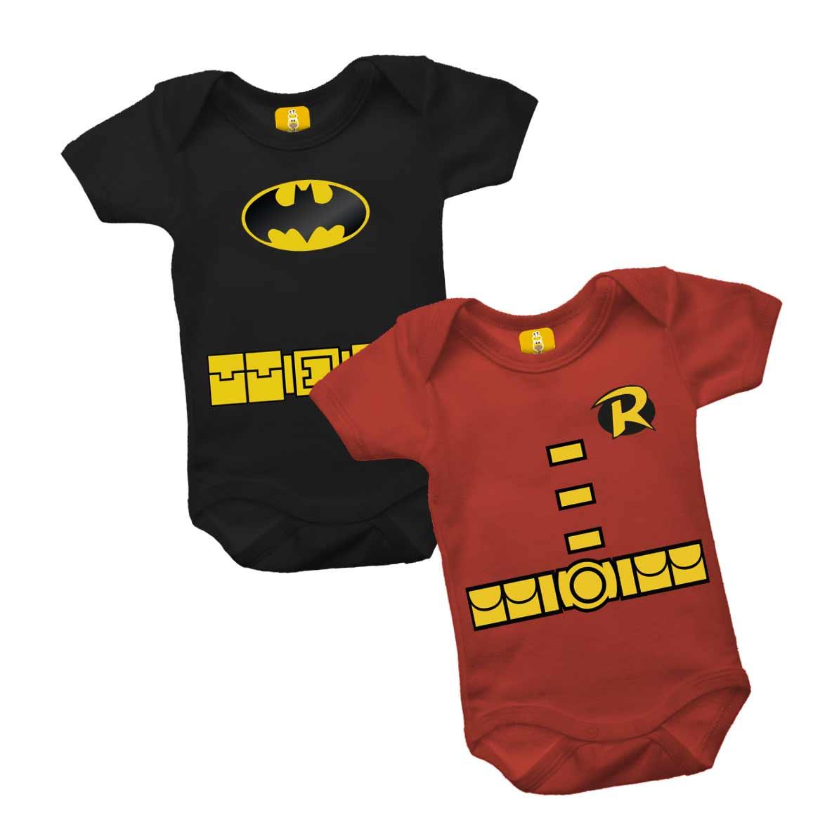 Body para gêmeos - Batman e Robin