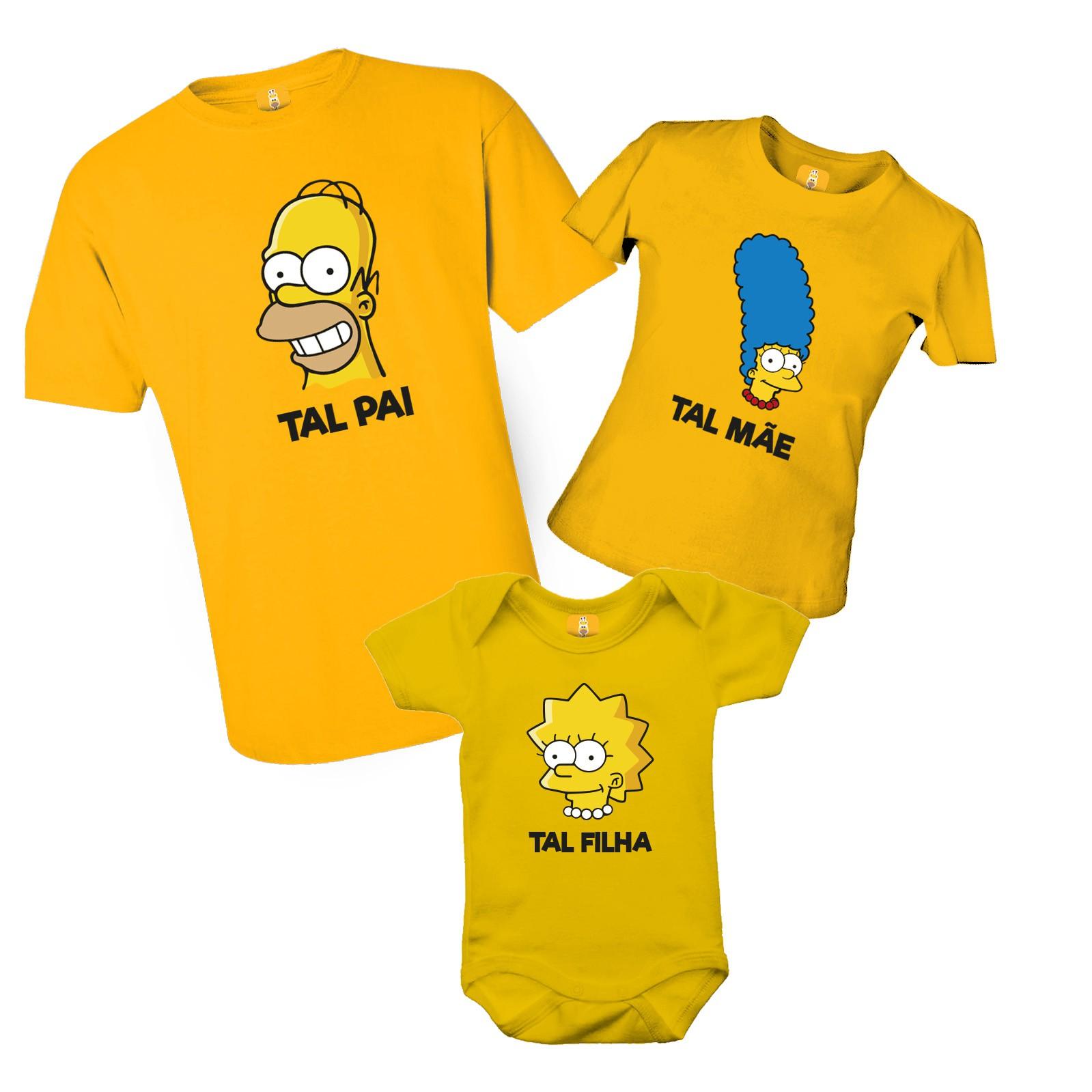 Camiseta Simpsons com 3 peças