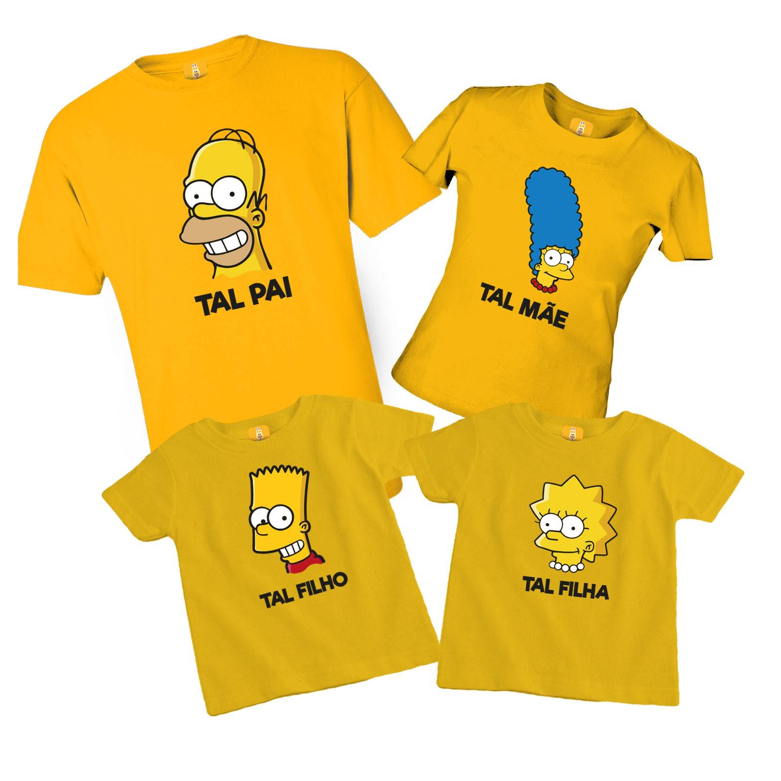 Kit Camiseta Simpsons com 4 peças