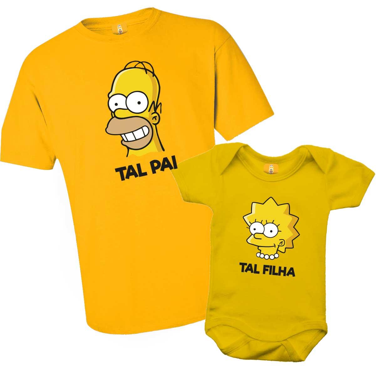 Camiseta Simpsons Tal pai Tal filho com 2 peças