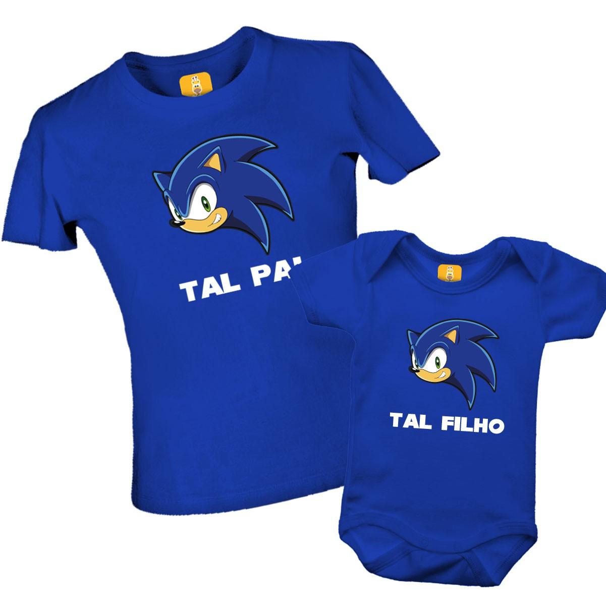 Camiseta Sonic Tal pai Tal filho
