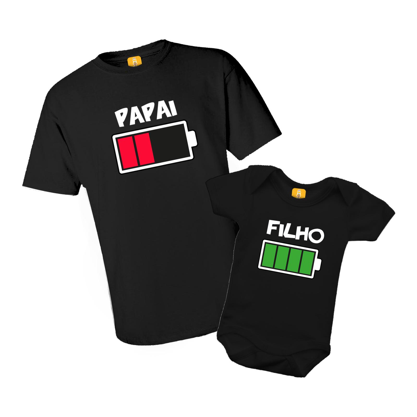 Kit Body e Camiseta - Tal Pai Tal Filho - Bateria