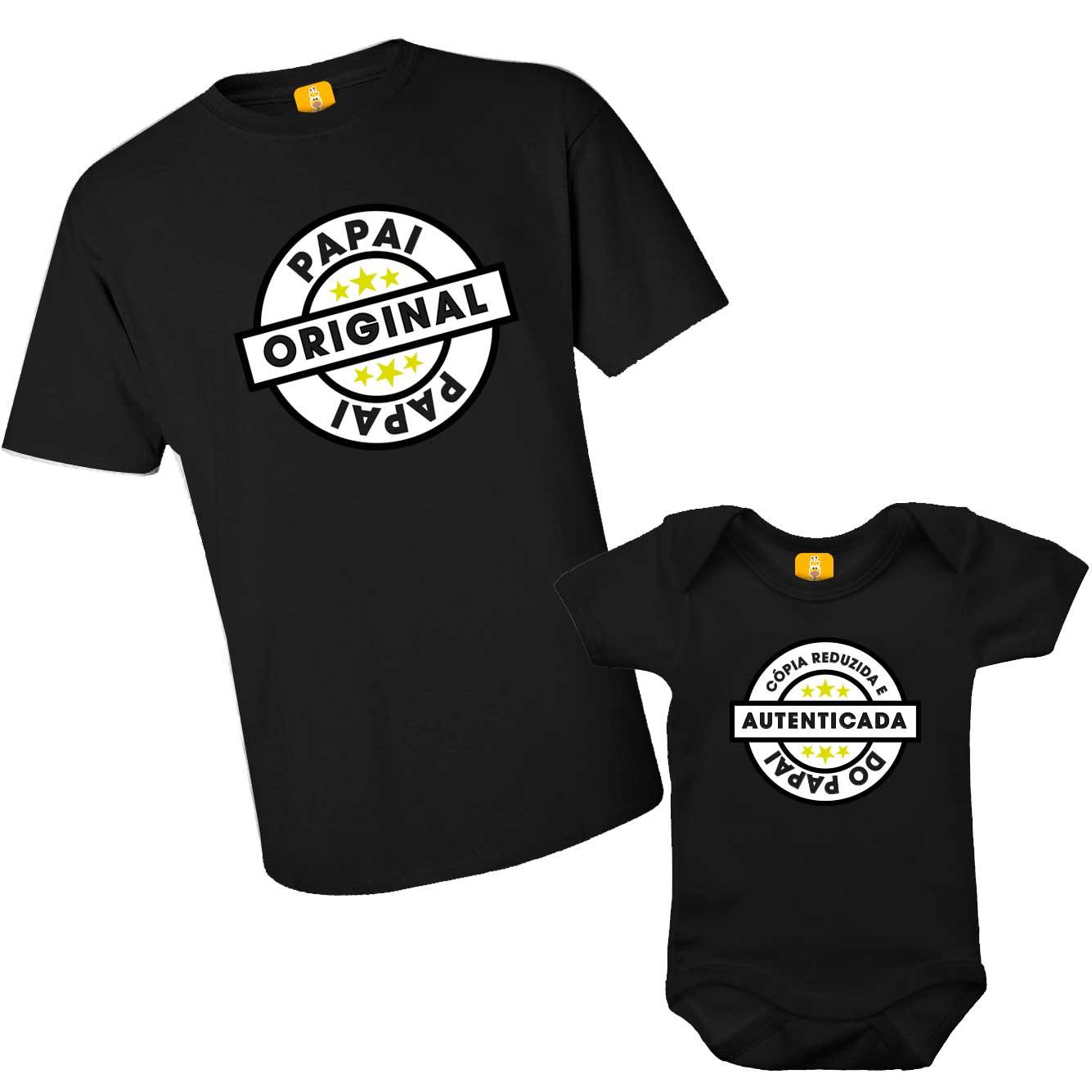 Kit Body e Camiseta Tal Pai Tal Filho - Original e Cópia Autenticada
