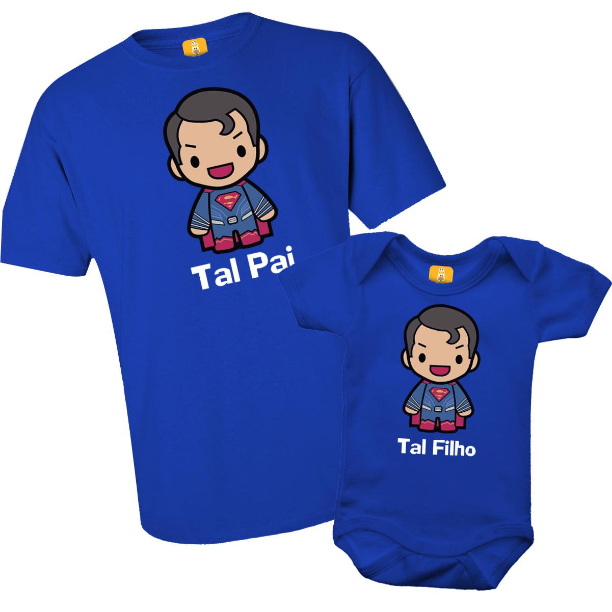 Kit Body e Camiseta Tal Pai Tal Filho - Superman