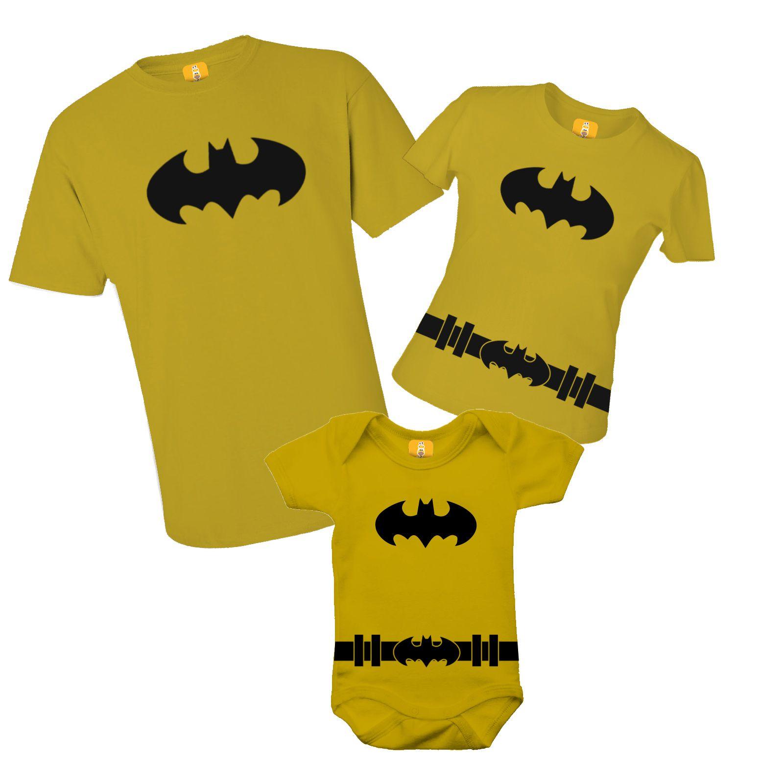 Kit camiseta e body do Batman
