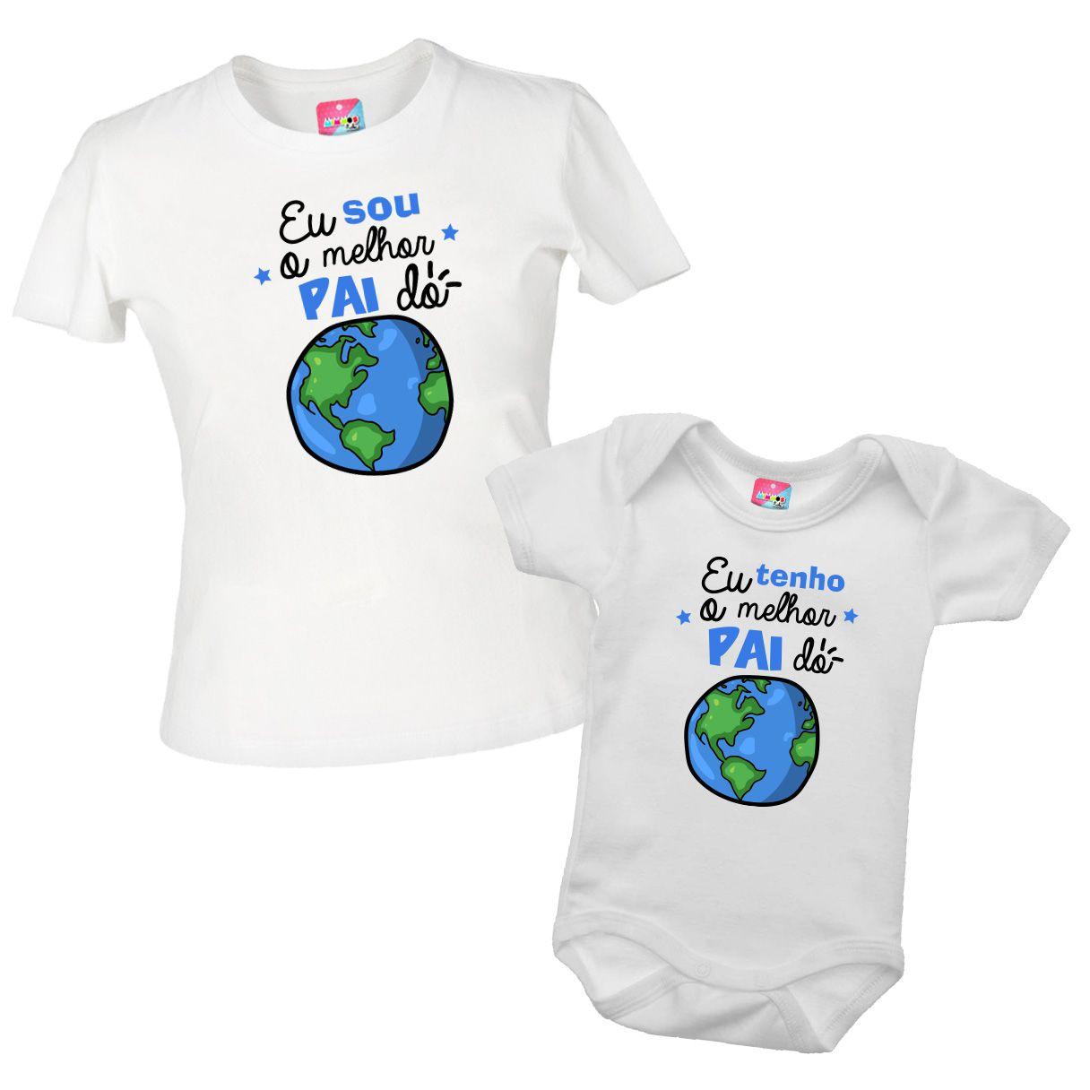 Kit camiseta e body - O melhor pai do mundo