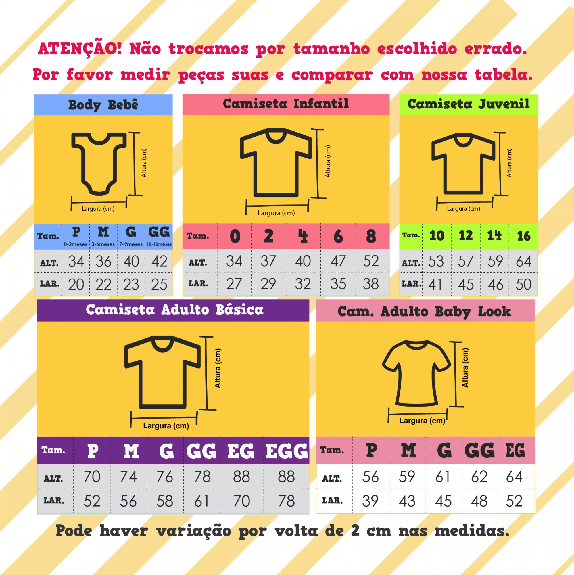 Kit Camiseta e Body - Os incríveis 5 peças