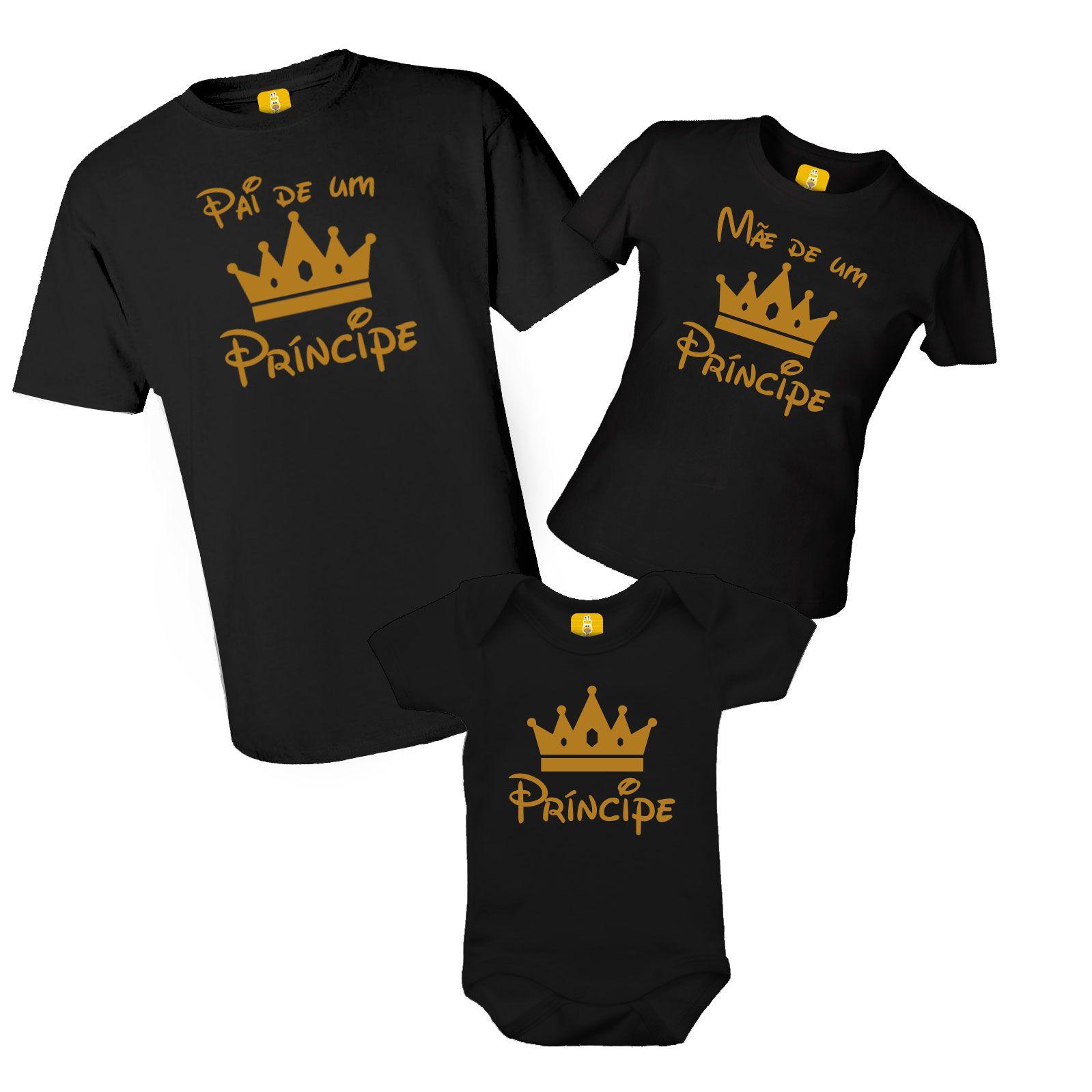 Kit camiseta e body - Pai de um Príncipe