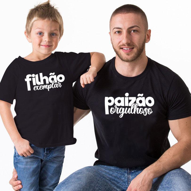 Kit Camiseta E Body - Paizão Orgulhoso e Filhão Exemplar