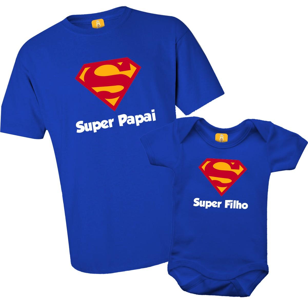 Kit camiseta e body - Super Pai e Super Filho